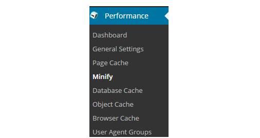 minify settings