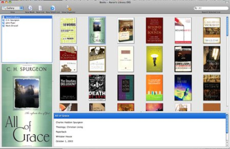 Your books can appear as a cover gallery, or as a list