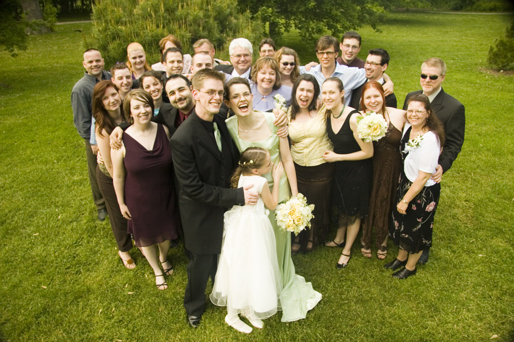 A group shot from our wedding 10 years ago. Don't we look so young?