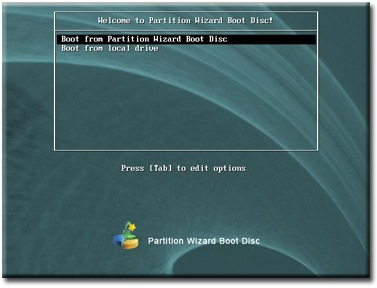 Partition Wizard Bootable CD