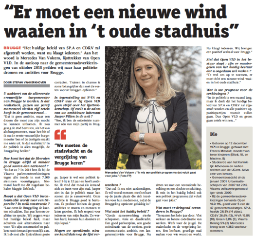 Interview Brugs Handelsblad Mercedes Van Volcem