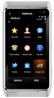 Nimbuzz-for-Symbian-Home-screen