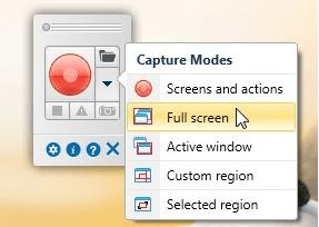qTrace Screen Capture Options