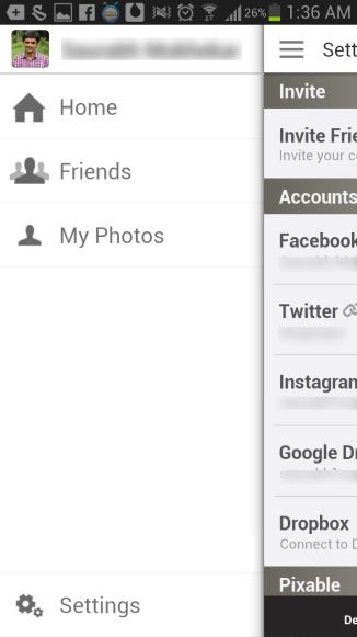 Link Pixable account