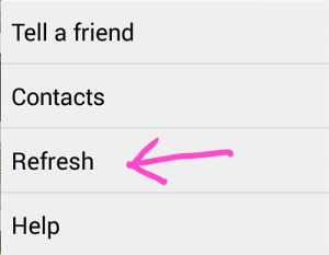 refresh waharsApp contact list