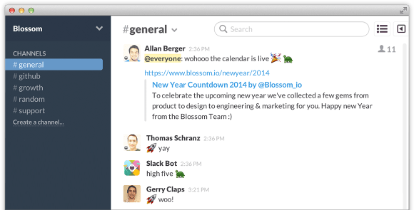 Celebrating shipped features in Slack with emoticons
