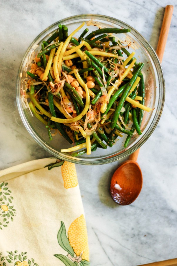 Spicy Summer Bean and Chickpea Salad