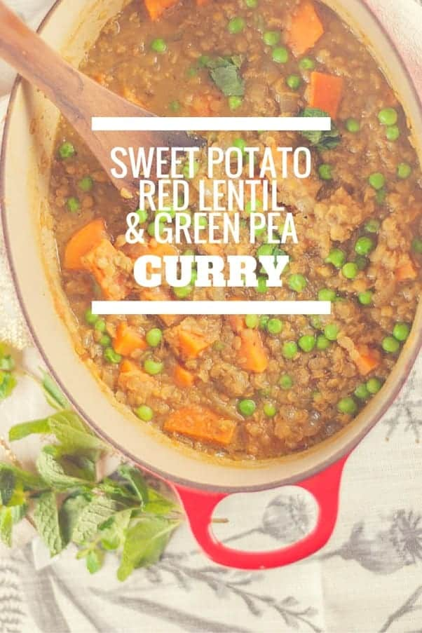 Sweet Potato, Red Lentil, and Green Pea Curry