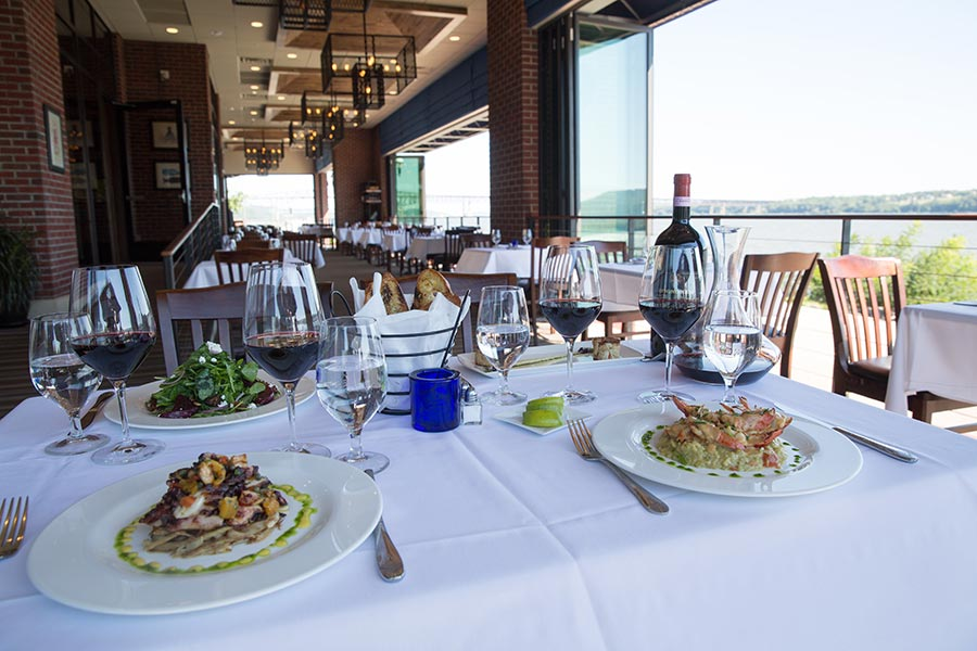 Enjoy the warm breeze while you dine