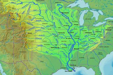 Map Of Usa Mississippi River - Usa rivers