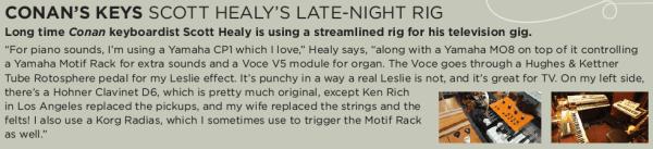 Scott Healy 'Conan' Keyboad Rig