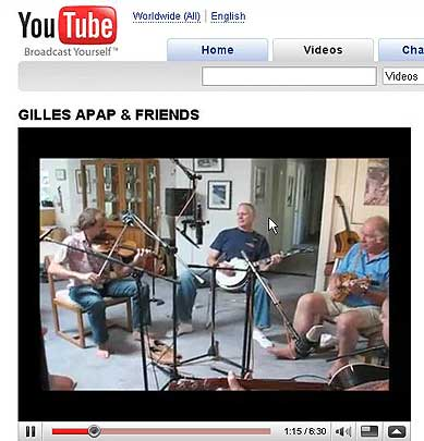 Session for Gilles Apaps Friends CD - Jerusalem Ridge