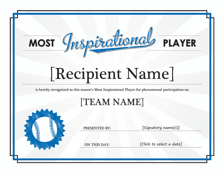 Leadership Award Template