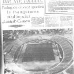 Inaugurare stadion Central
