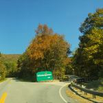 The entrance to Wintergreen Resort just below the gatehouse.
