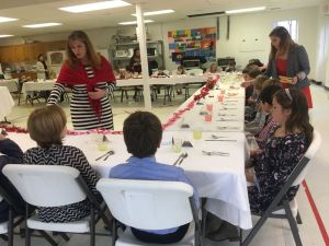 Kimberly Gale with Afton Christian School in Nelson County discusses proper etiquette during a Valentine's Day luncheon this past Tuesday - February 14, 2017.
