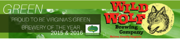 Nelson : Wild Wolf Named Virginia Green Brewery Of The Year For Second Year In A Row