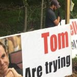 Nelson Land Owner Puts Up Sign Calling Out Dominion CEO (Video)