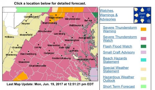 SEVERE THUNDERSTORM WATCH :  ! CANCELED !