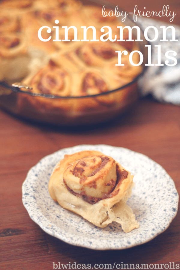 baby-friendly cinnamon rolls no sugar