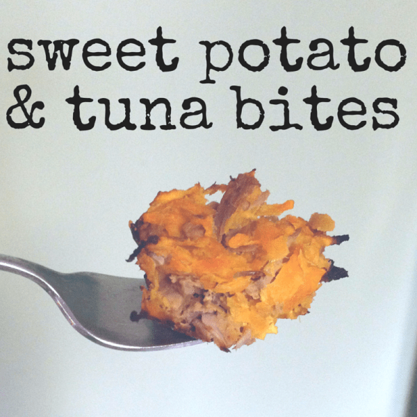 sweet potato and tuna bites