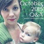 October 2015 Q&A