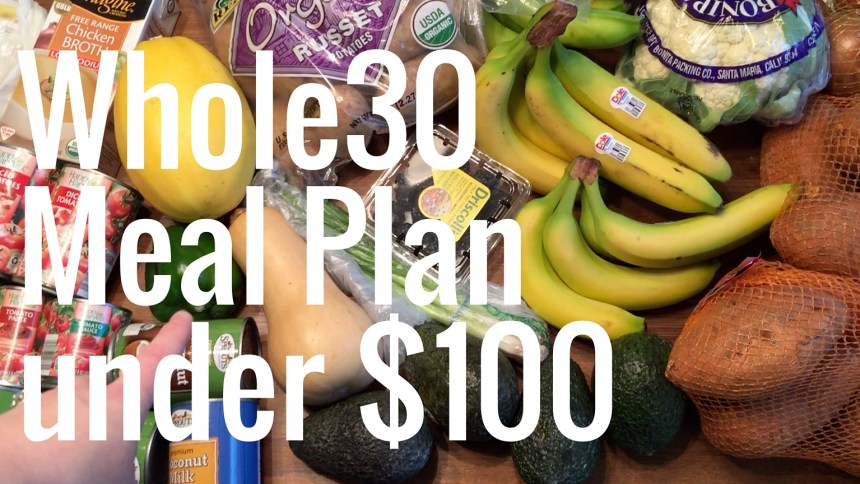 whole30 meal plan youtube cover