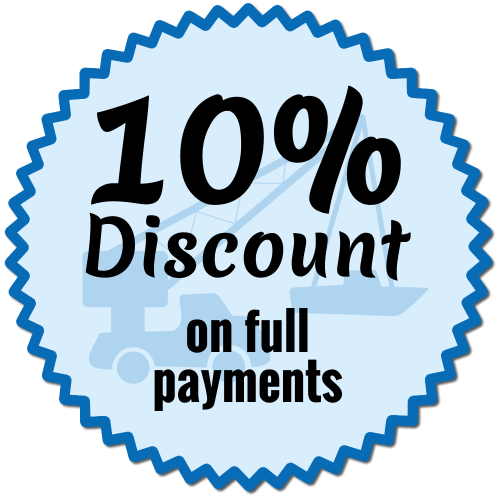 10% Discount on full payments
