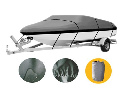 17' 18' 19' Premium Boat Cover Heavy Duty 600D Water Proof Trailer Fishing Ski Covers XBT2H