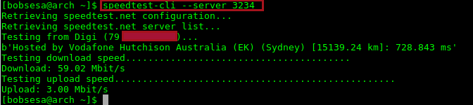 speedtest-cli server