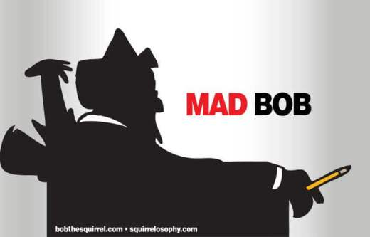 Bob the Squirrel re-imagined as MAD MEN