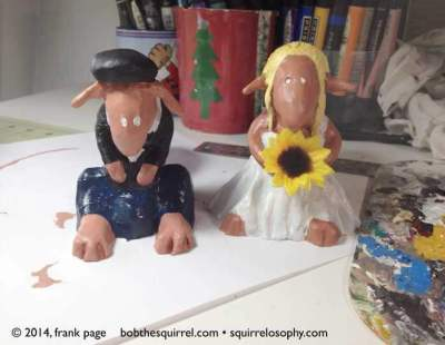 custom squirrel wedding cake toppers by Frank Page