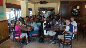 Students and chaperones had lunch at Deck 84 restaurant