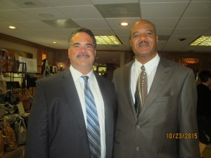Dr. Randall Brooks, M.C. and former NFL player and Atty. William Cea