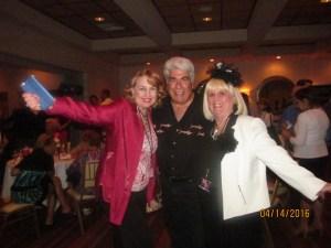 Pat Riley, Joe Manscalco and Charlotte Beasley