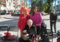 Charlotte Beasley, Mayor Susan Haynie and Countess DeHoernle at Flossy's Memorial Event.