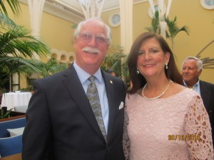 Downtown Rotary Club President, Lewis Fogel and Boca Raton Mayor, Susan Haynie