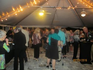 Party under a tent