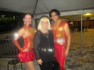 Edna, Charlotte and Enderson Gomez