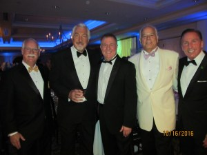 Boca Downtown Rotary Pres. Lewis Fogel, Armand Grossman, David Feder, Jon Kaye and Peter Mottek