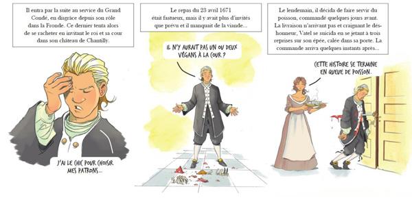 Visuel provisoire, autour du personnage de Vatel. Par Nicolas Otéro, Anton et 1ver2anes.