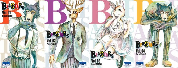 Couvertures 1 a 4 Beastars