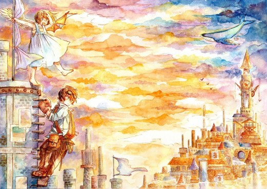 Beyond the clouds illustration