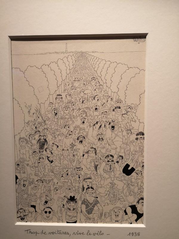 "Albert Dubout, ""La Tandémite - cochue de week-end"""