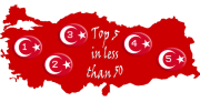 Top 5 in Less Than 50 Logo for Bodrum Peninsula Travel Guide