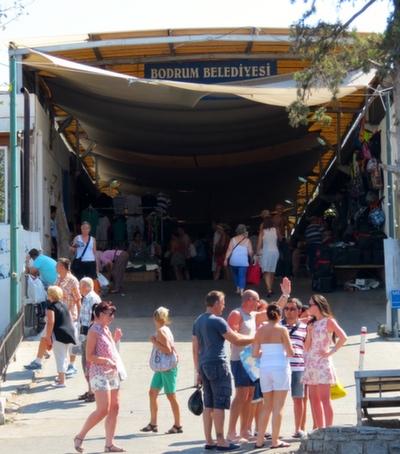 Entrance to Bodrum Market Turkey