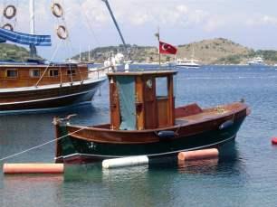 Boat in Turkbuku Bay, Turkey