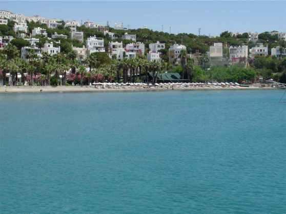 Meteor Beach, Turgutreis from a Boat in Turkey