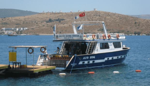 Motif Diving Boat Bodrum Peninsula Turkey