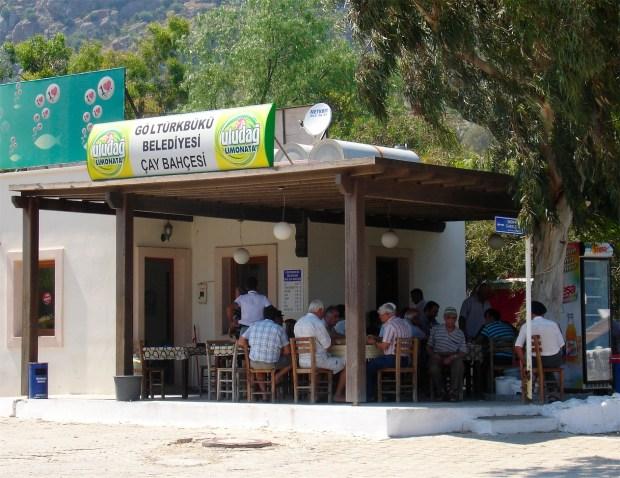 Tea Cafe on Turkbuku Beach Bodrum Turkey